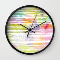 trip Wall Clocks featuring Trip by Catarina Guerreiro