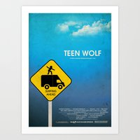 teen wolf Art Prints featuring Teen Wolf by Tommaso Valsecchi