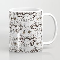 snow leopard Mugs featuring Snow Leopard by lillianhibiscus