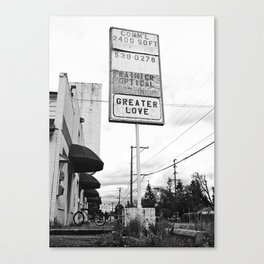 Another vacant building Canvas Print