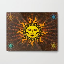 Light Sun #1 Psychedelic Character Icon Tapestry Metal Print