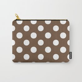 Polka Dots (White/Coffee) Carry-All Pouch
