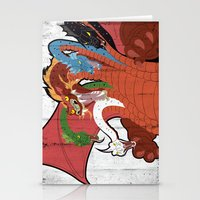 dungeons and dragons Stationery Cards featuring DUNGEONS & DRAGONS - TIAMAT by Zorio