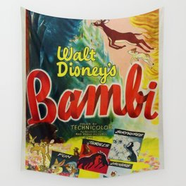 1942 Vintage Bambi Film Movie Poster Wall Tapestry