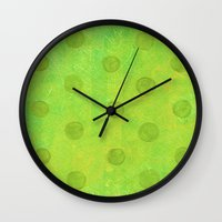 jojo Wall Clocks featuring #51. JOJO - Dots by sylvieceres