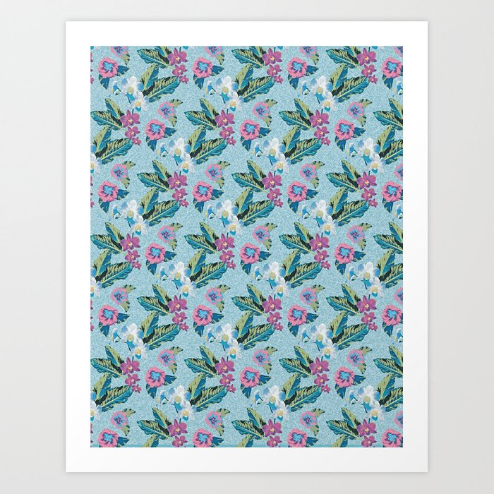 Vintage Orchid Tropical Art Print