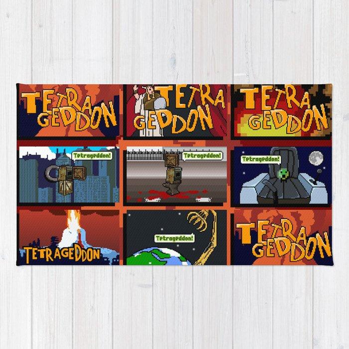 Tetrageddon Tetris For Us Fps Gamers Rug By Alienmelon Society6