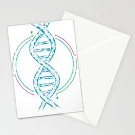 DNA Tree Biology Stationery Cards