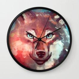 Wolf - Stare - Wanderlust Wall Clock