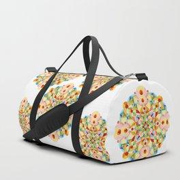 Pastel Carousel Mandala Duffle Bag