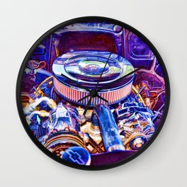 Old Engine of American Car Wall Clock