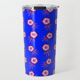 Lovely cute pink lollipop candy pattern. Pretty retro vintage lollipops with red ribbon bows. Travel Mug
