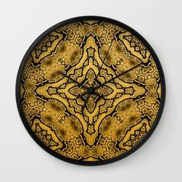 abstract jewel gold black Wall Clock