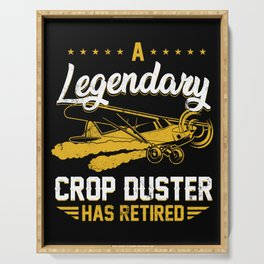 Retro Vintage A Legendary Crop Duster Has Retired Plane Serving Tray