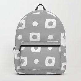 Mid Century Square Dot Pattern 12 Backpack