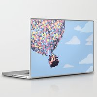 pixar Laptop & iPad Skins featuring disney pixar up.. balloons and sky with house by studiomarshallarts