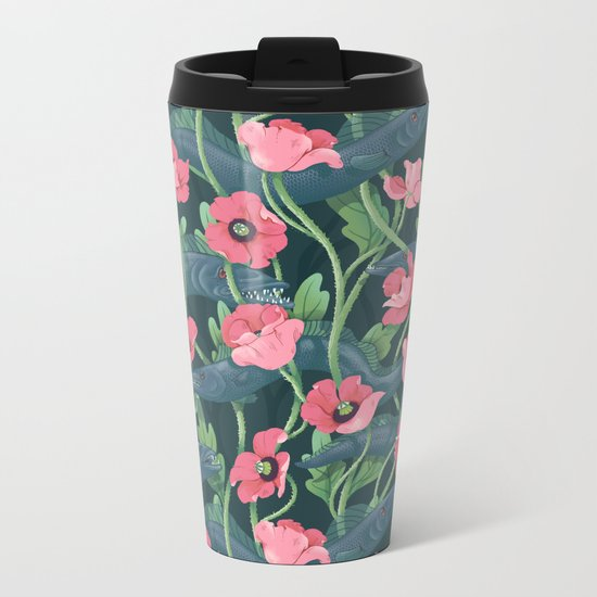 Barracuda - Midnight version Metal Travel Mug