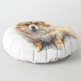 Pomeranian Dog Pom Floor Pillow