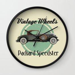 Vintage Wheels - Packard Boattail Speedster Wall Clock