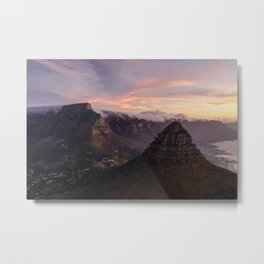 Table Mountain Lions Head | Capetown | Aerial Photography Metal Print