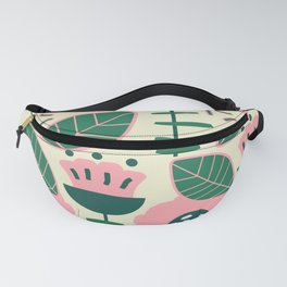 Modern flowers and leaves Fanny Pack