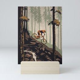 Think outside mountain bike poster Mini Art Print