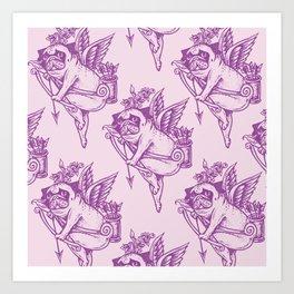 Stupid Pug Cupid Art Print