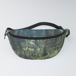 Mount Rainier Classic Mountain Meadow - 129/365 Nature Photography Fanny Pack