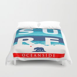 Oceanside California. Duvet Cover