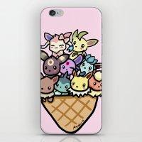 eevee iPhone & iPod Skins featuring Eevee Ice Cream by Mayying