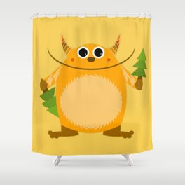 From monster with love Shower Curtain