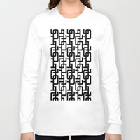 mid century Long Sleeve T-shirts featuring Mid Century Pattern by Scott Aichner