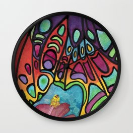 Wings And Flora Wall Clock