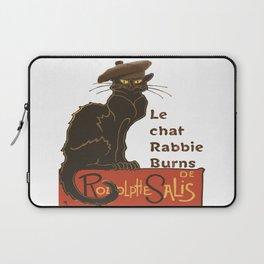 Le Chat Rabbie Burns With Tam OShanter Laptop Sleeve