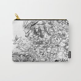 Naruto characters doodle Carry-All Pouch