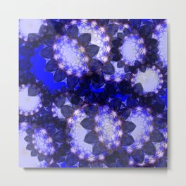 Indigo Flower Metal Print