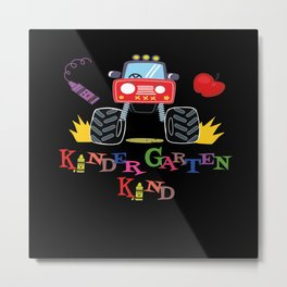 Vehicles Car Gift Boy Tracker Kindergarten german Metal Print
