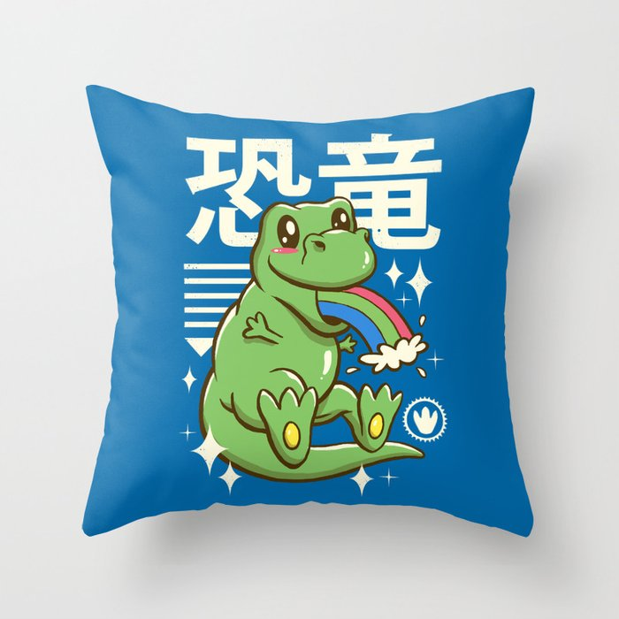 Kawaii T-Rex Throw Pillow