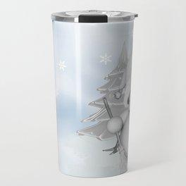 White Snowman Travel Mug