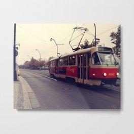 Streets of Prague Metal Print