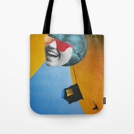 Collapsed Head Tote Bag