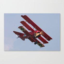 Fokker Dr1 - Red Baron  Triplane Canvas Print