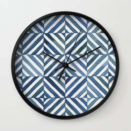 Square Stripes Wall Clock