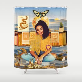 Times Are Hard For Dreamers :: Fine Art Collage Shower Curtain