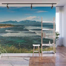 Wave Series Photograph No. 29 - The Emerald Sea - Hawaii Wall Mural