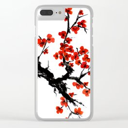 Orange Blossoms Clear iPhone Case