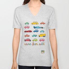 Cars for all Unisex V-Neck