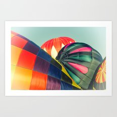 Balloon Love: up up and away! Art Print