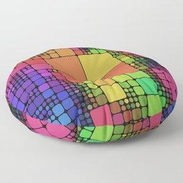 DISCO GEOMETRY  Floor Pillow