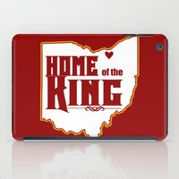 lebron iPad Cases featuring Home of the King (Red) by Denise Zavagno